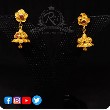 22 carat gold classical earrings ladies jhumka RH-ER600