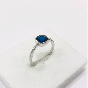 925 sterling silver blue diamond royal Ring for women