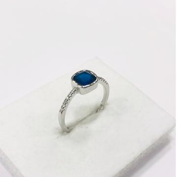 925 sterling silver blue diamond royal Ring for women