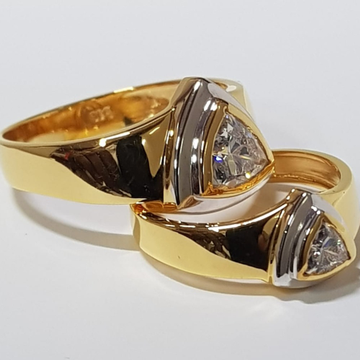 22 ct gold couple ring by