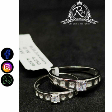 92.5 Silver Traditional Couple Rings RH-CR754