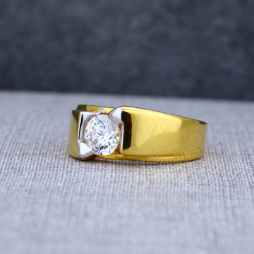 Mens Fancy Gold solitaire 22ct Ring-MSR12