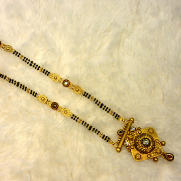 Gold 22k hallmark 916 fancy jadtar mangalsutra