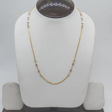 Gold Rhodium Design Chain by