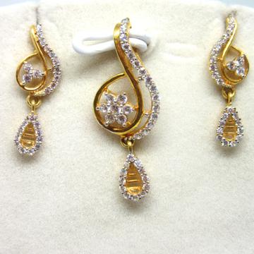 916 Gold Designer pendant set