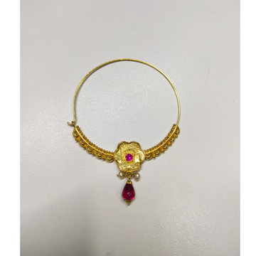 18k gold nath by