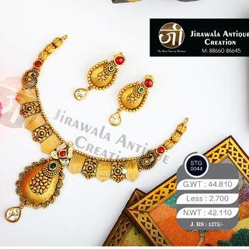 22KT Gold Antique Jadtar Bridal Necklace Set STG-0044