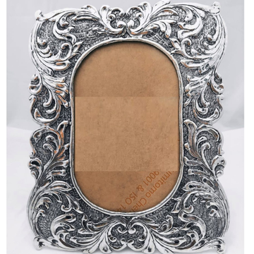 925 Pure silver photo frame in deep carvings in an...