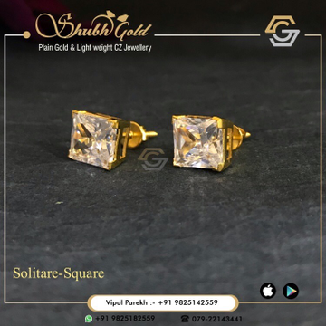 Solitare Earrings by Shubh Gold