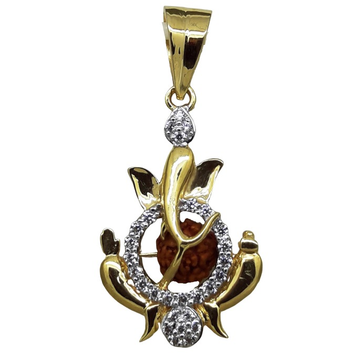 22KT Gold CZ Ganesh Design Pendants