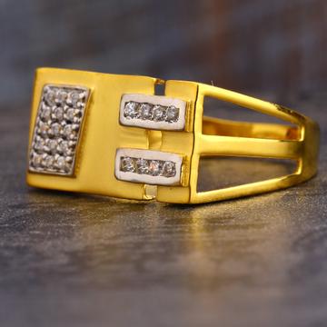 916 Gold CZ Hallmark Exclusive Men's Ring MR613
