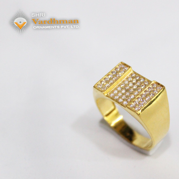 22ct(916) c.z jents ring