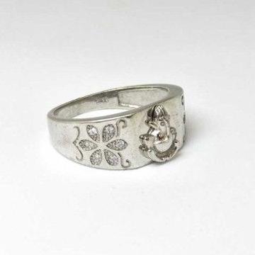 925 Sterling Silver Ganesh Gents Ring
