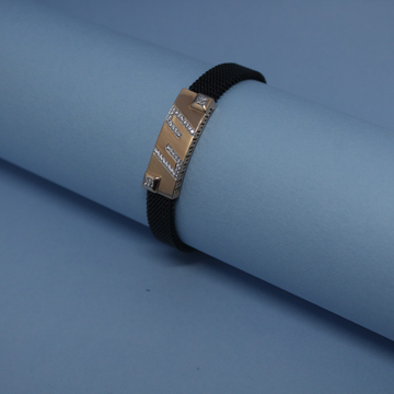 18KT Rose Gold CZ Chain Bracelet by Simandhar Jewellers