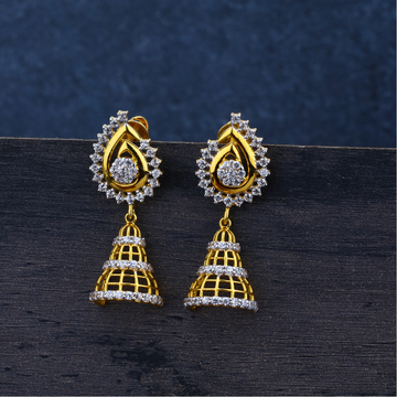 Ladies Jummar Gold Earrings 916-LJE69