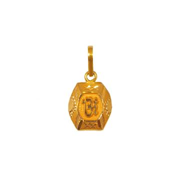 18K Gold Om Pendant MGA - PDG0186