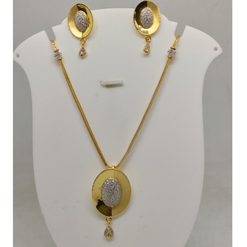 916 cz gold necklace set sog-n018 by S. O. Gold Private Limited