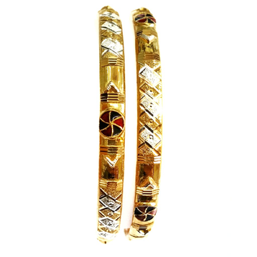 22k Gold Round Meenakari Copper Kadli bangles MGA - GK014