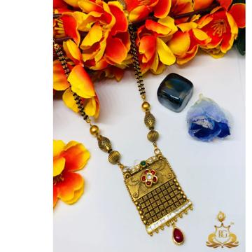 916 Gold Jadtar Mangalsutra ms-0002