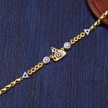 916 Gold Cz Fancy Bracelet LB215