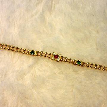 Gold 22k Hallmark Jadtar Bracelet by