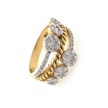 Bonum Diamond Ring with Six Pressure Setting in 18k Yellow Gold - 6.470 grams - VVS EF - 0.84 carats - 0LR58