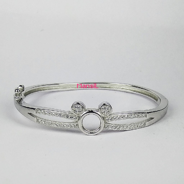 92.5 sterling silver Baby kada bracelet ML-110