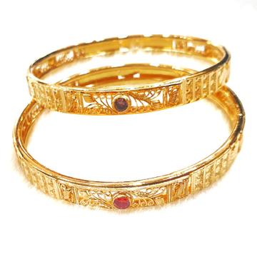 22k Gold Kalkatti Copper Kadli Bangles MGA - GK023