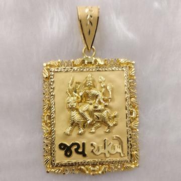 916 Gold Fancy Gent's Ambaji Maa Pendant