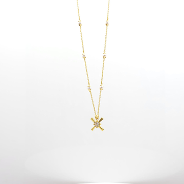 22K Light weight diamond chain pendent by