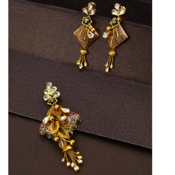 916 Gold Classic Design Pendant Set