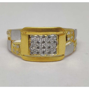 22k Gents Fancy Gold Ring Gr-28633