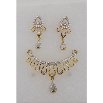22KT Gold CZ Designer Mangalsutra Pendant Set MJ-P... by M.J. Ornaments