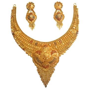22k gold kulkatti half necklace set mga - gn0036