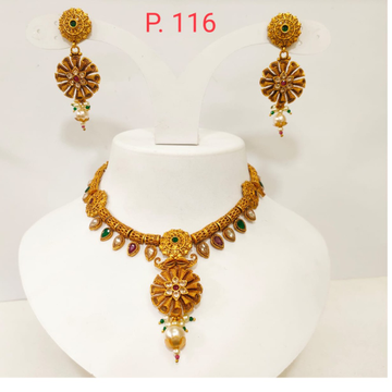Long with multi color stone choker with attractive butti 1381