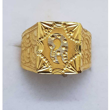 916 Gold Square gents ring SJ-GR/15