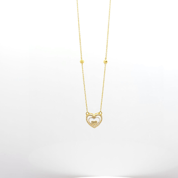 heart shaped pendent chain by
