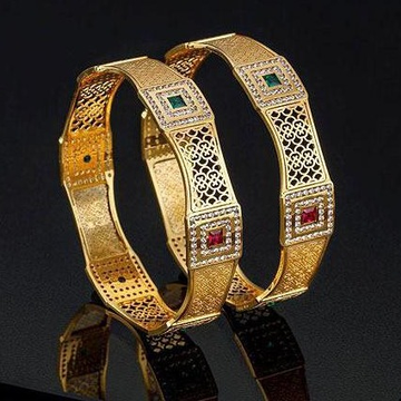 22Kt Gold Designer Bangles For Wedding BJ-B006 by