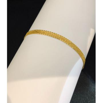 22kt, 916 hallmark gold classic bracelet jkb098