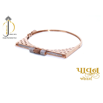 18KT Rose Gold Fancy Casual Bangles For Ladies KKG... by