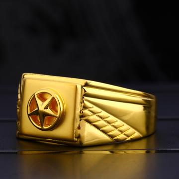 22KT Men's Plain Stylish  Gold  Ring MPR116