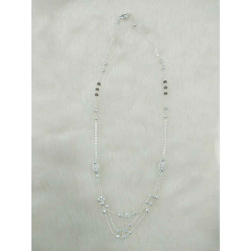 92.5 Sterling Silver Motiya Bagaldana White Cholel Bol & Para Mangalsutra Ms-2967