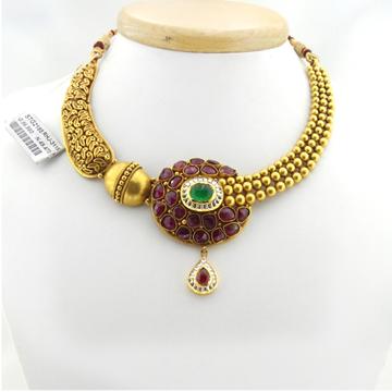916 Gold Antique Bridal Necklace Set RHJ-3115
