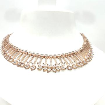 Stylish Wedding Diamond & stone Choker Necklace set For Women 1499
