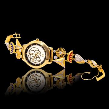 916 Gold Hallmark Designer Watch by S B ZAWERI