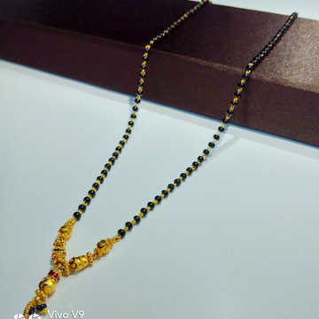 916 gold modern mangalsutra