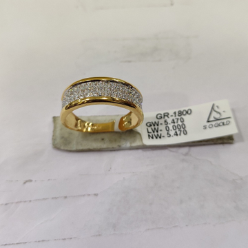 22KT Gold diamond Ring SOG-R039 by S. O. Gold Private Limited