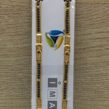 22kt mangalsutra ser with attracted side chain