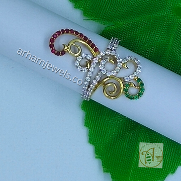 916 gold fancy colorful ring RGG0125