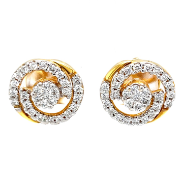 Circulaire diamond earrings with pressure set in c...